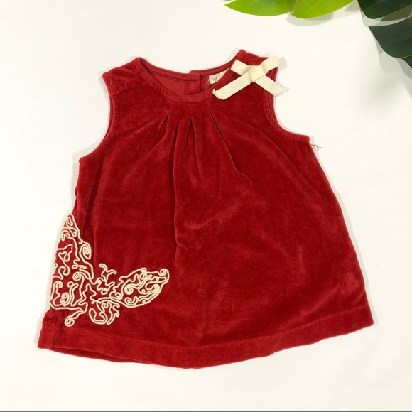 36f99daff Burt's Bees Baby Dresses | Burts Bees Baby Red Embroidered Butterfly ...